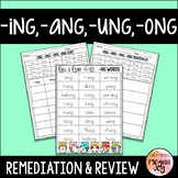 ING ANG UNG ONG Endings Phonics Review