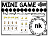 ink ank onk unk Phonics Game