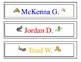 Desk Name Plates -- Insects
