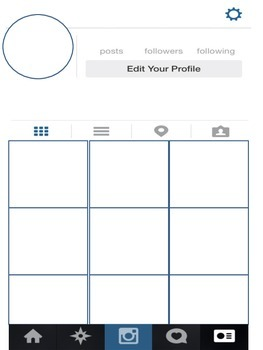 Instagram layout template blank
