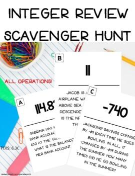 integer Scavenger Hunt All Operations