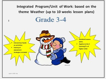 integrated unit of work : theme weather Grade 3-4