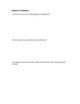 intermediate French: song and music video, Tout le bonheur du monde (Sinsemilia)