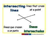 intersecting lines/lineas intersectadas geom 1-way blue/verde