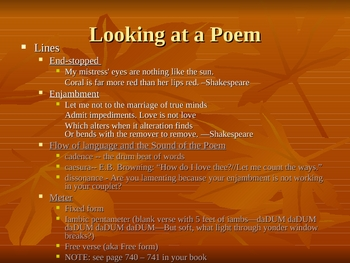 intorduction to poetry power point