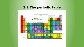 introducing the periodic table and its trends