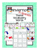 invierno Vocabulary Cards (SPANISH)