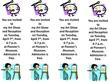 invitation for an art show