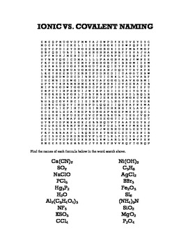 ionic vs. covalent word search