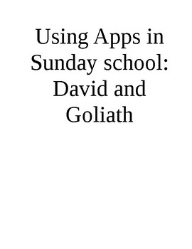 ipad apps for Sun School series - David and Goliath