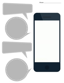 iphones:  Blank iphone screen printables for multiple activities!