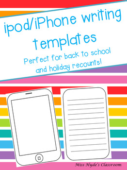 ipod/iphone writing template #ausbts17