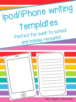 ipod/iphone writing template