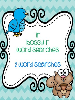 ir Bossy R Word Searches!
