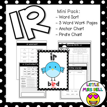 ir controlled vowel pack