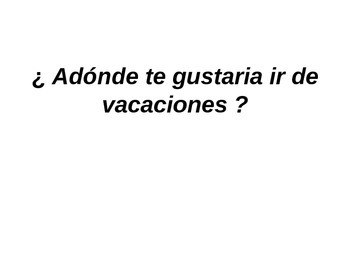 ir de vacaciones ?