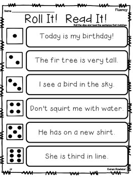 ir words - fluency and comprehension