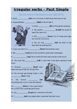 irregular past verbs