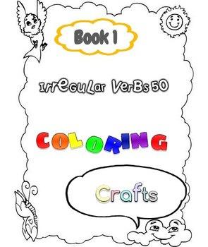 irregular verbs 50 coloring