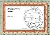 irregular verbs wheel - english only