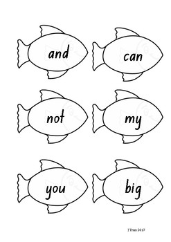 Fishing Sight Word Game – Yellow Level PM Sight Words