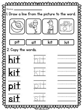 'it' Word Family Word Work