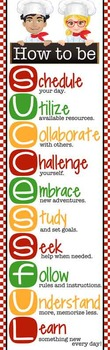 itallian CHEF / COOKING - Classroom Decor: XLARGE BANNER, How to be Successful