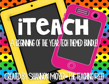 iteach {A Classroom Tech Theme Bundle}