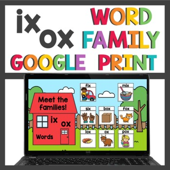 ix and ox Word Family Activities