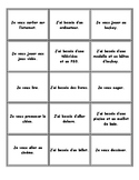 lecture: je veux...j'ai besoin de...French matching cards