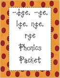 /j/ dge, ge, rge, lge, nge Phonics Packet