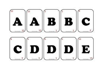 jeu de l'alphabet