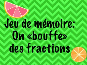 jeu de mémoire: on «bouffe» des fractions