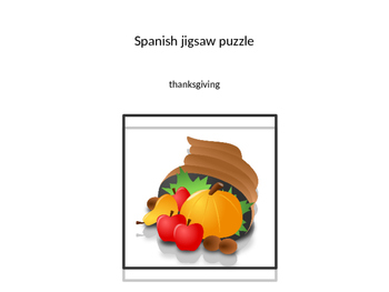 jigsaw puzzle SPANISH thanksgiving