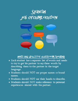 job & work circumlocution SPANISH