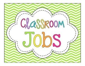 Classroom Jobs! {Bright Chevron}