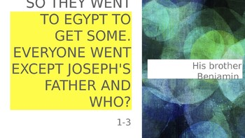 joseph powerpoint game to go along with lesson plan