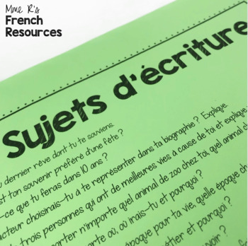 Writing an admission essay in french