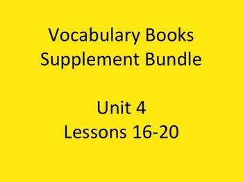 Journey's Vocabulary Books Bundle Unit 4