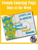 jours de la semaine- Days of the week French Adult Coloring Page
