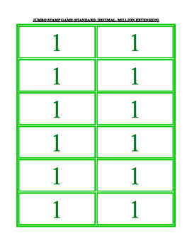 place value cards: pocket chart