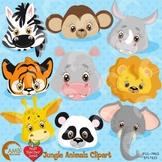 Jungle Clipart, Animal Clipart, Faces Clipart, {Best Teacher Tools} AMB-273