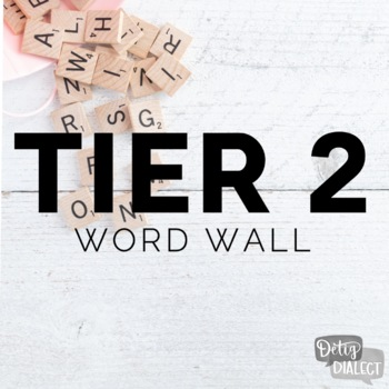 junior high tier 2 word wall