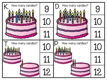 just add clips: clip cards 1 to 20_birthday cake candles theme
