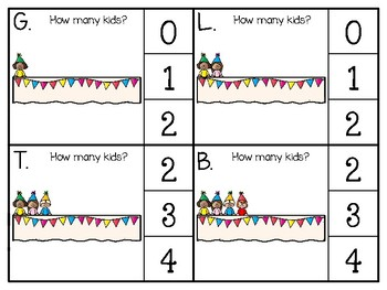 just add clips: clip cards 1 to 20_party kids theme