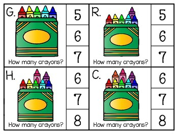 just add clips: clip cards_1 to 20_crayons