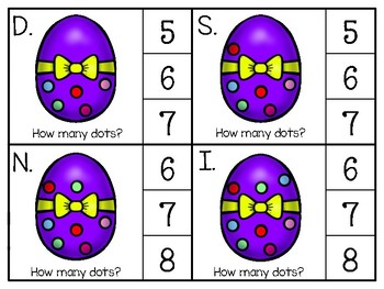 just add clips: clip cards_1 to 20_easter egg polka dots