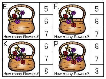 just add clips: clip cards_1 to 20_basket flowers