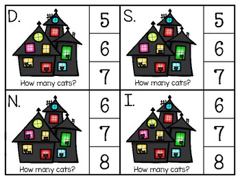 just add clips: clip cards_1 to 20_black cats theme