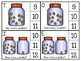 just add clips: clip cards_1 to 20_candy corn jars